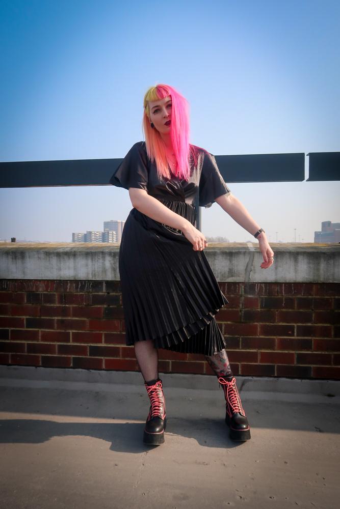 Alternative Fashion Blogger Foxxtailz Styles PLT Dress