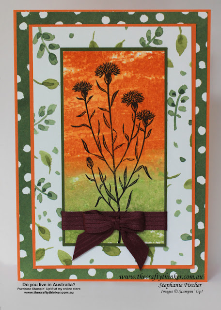 SU, Wild About Flowers, Watercolour Wash, watercolour background, hand made card