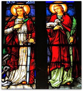 Santa Catarina e Santa Inez - Igreja Matriz de Nova Bréscia (RS)