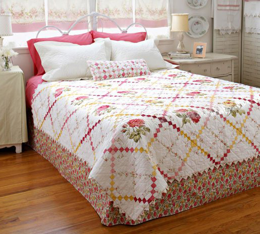 Sweet Retreat Bed Quilt Free Pattern Designed by Holly Holderman of Lakehouse Dry Goods for All People Quilt