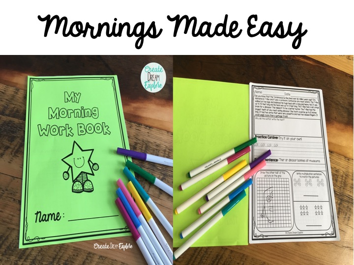Morning Work Made Easy! | Create Dream Explore