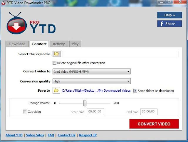 برنامج YTD Video Downloader لتحميل اى فيديو من جميع المواقع التى تعرض مقاطع الفيديوهات عليها
