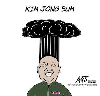 Corea del Nord, Kim jong un, guerra nucleare, satira, vignetta