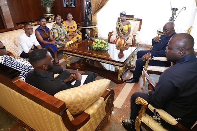 Miss Ghana UK Team Interacts With President of Ghana, Nana Addo Dankwa Akufo-Addo