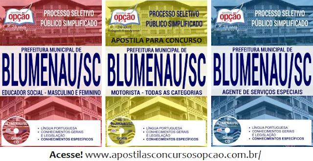 Apostila para o concurso Prefeitura de Blumenau 2017