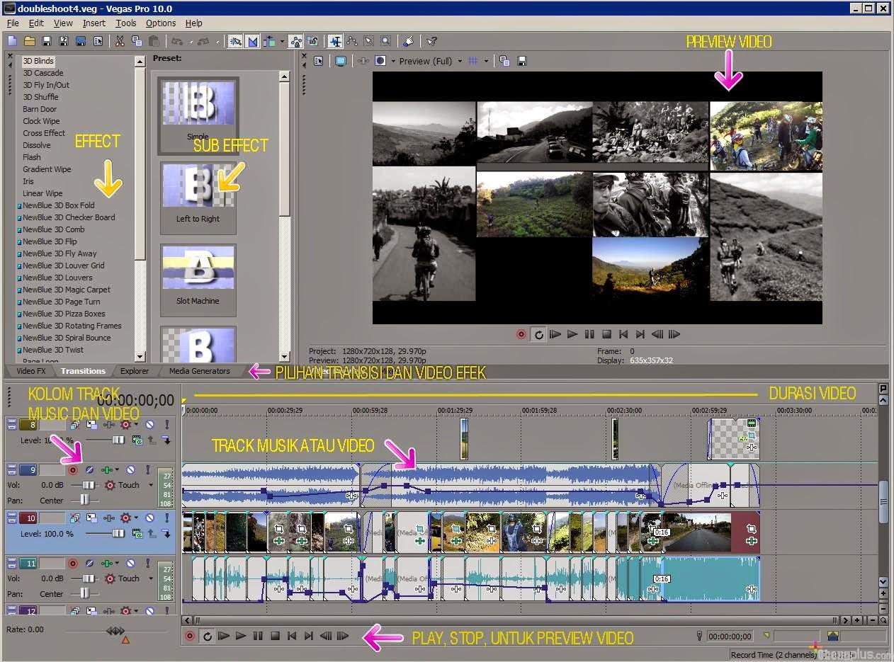 vegas video editing