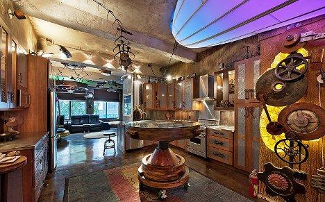 Sorprendente Decoración Steampunk En Un Apartamente De Nyc