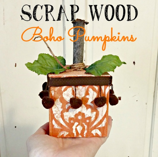 Make these adorable boho pumpkins from 4x4 scraps!