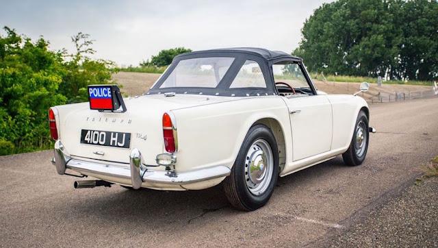 El chasis CT7571-O es considerado el último Triumph TR4 Police Cruiser 1962