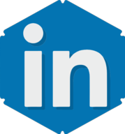 linkedin hexagon icon