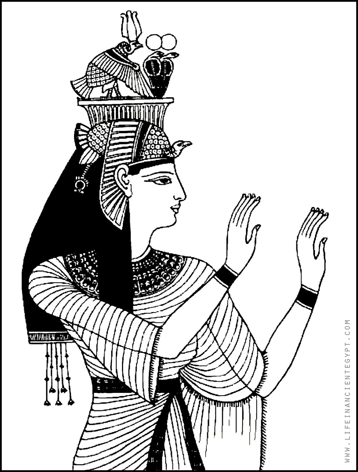 Ancient Egyptian Queen Coloring Page
