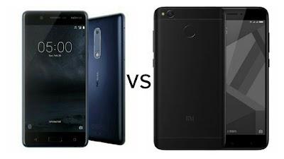 Nokia 5 vs Xiaomi Redmi 4