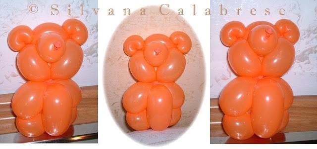 Orsetto scultura palloncini Silvana Calabrese Blog