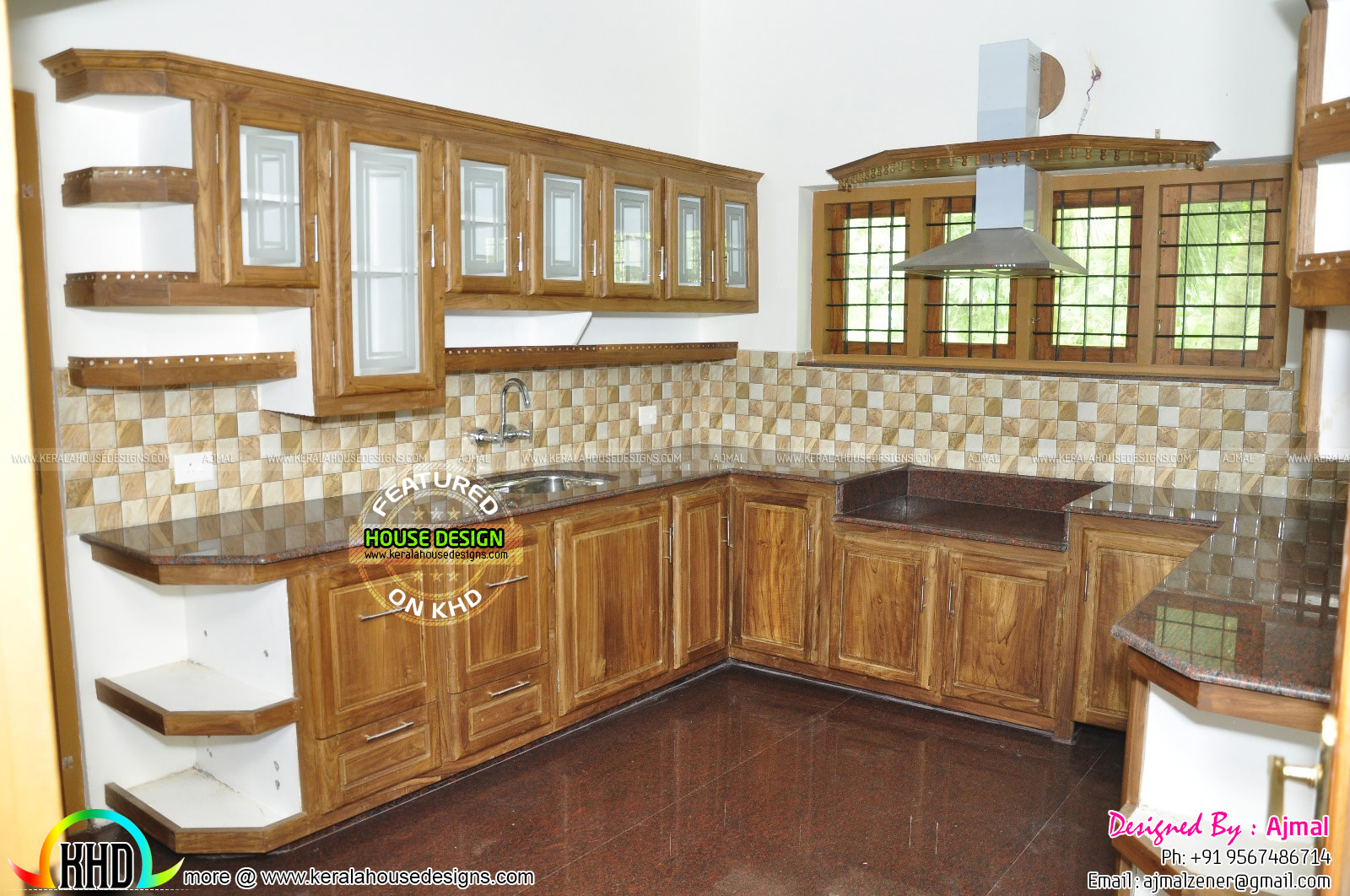 Fully furnished home at thodupuzha kerala home design for Kitchen design kerala