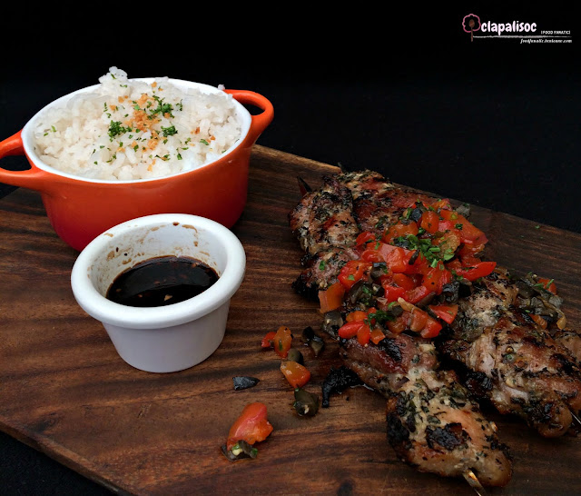 Grilled Pork Skewers with Garlic Rice from Italianni's PH