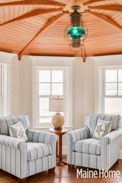 Blue Nautical Decor In An Elegant Maine Home Completely
