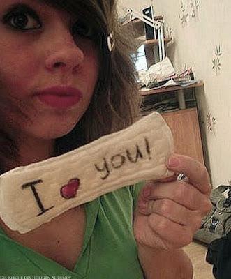 Dummes Mädchen - Ich liebe Dich Slipeinlage lustig