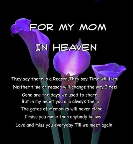 Missing My Mom In Heaven Quotes Best Happy Mothers Day In Heaven Mom Images Quotes 2017 I Miss You Mom