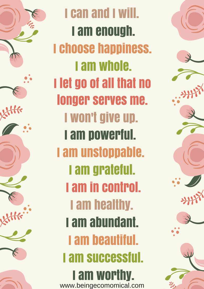 image about Printable Positive Affirmations titled 15 Constructive Affirmations In the direction of Say Each day + Free of charge Printable