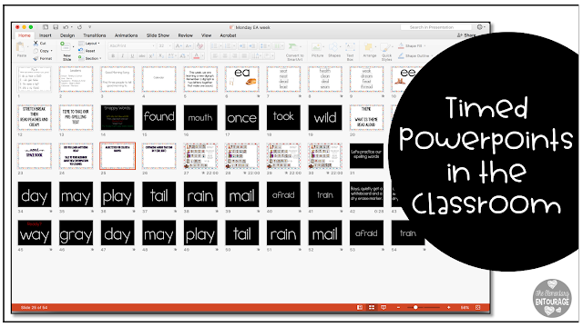Creating technology timed lessons with PowerPoint