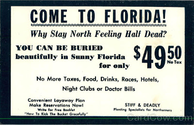 Funny come to Florida funeral advert joke picture