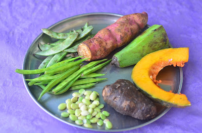 Vegetables for Thiruvathirai kootu
