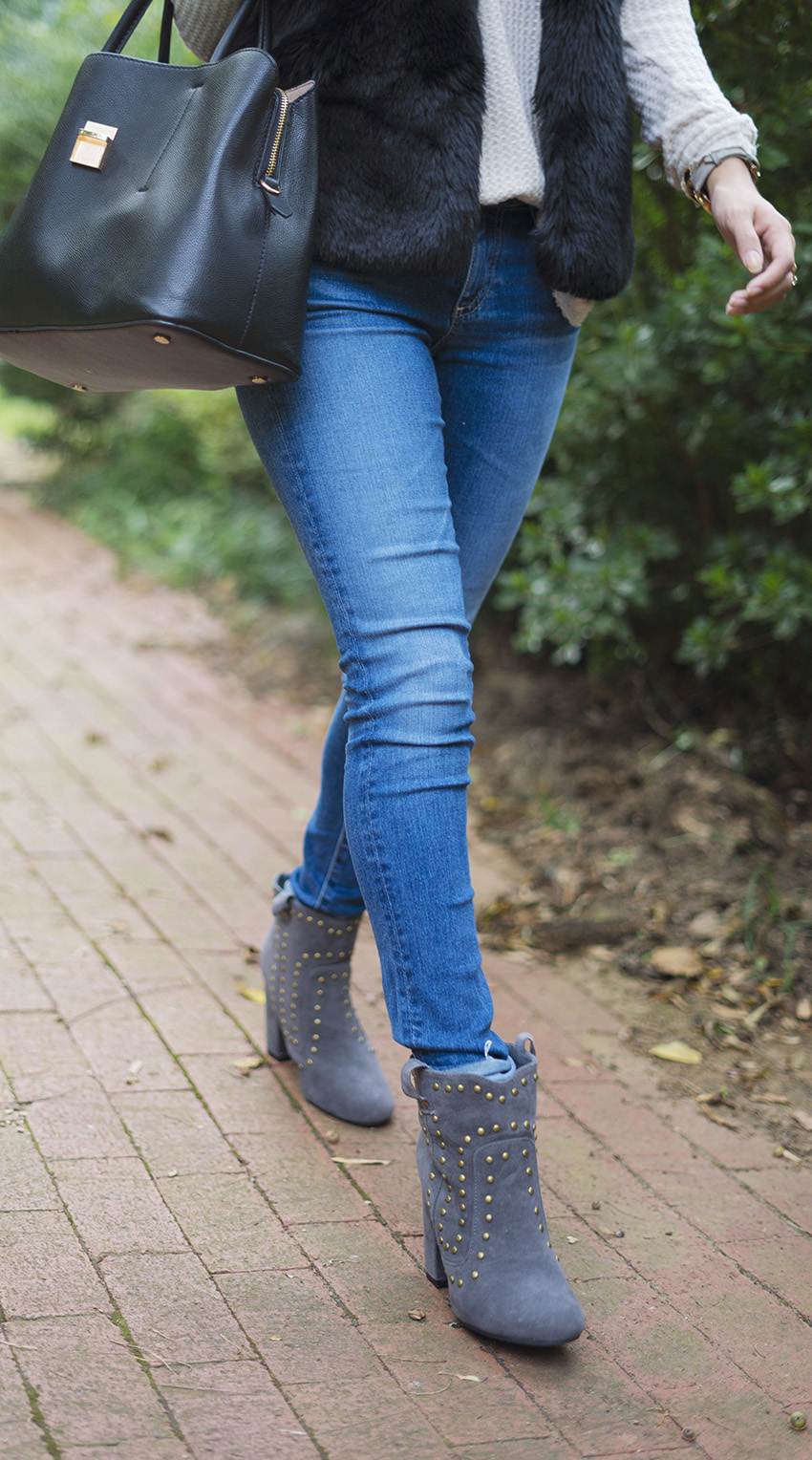 studded ankle boots outfits, fall fashion boots you need now