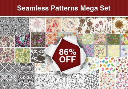Seamless Patterns Mega Set: 118 premium patterns for just $20