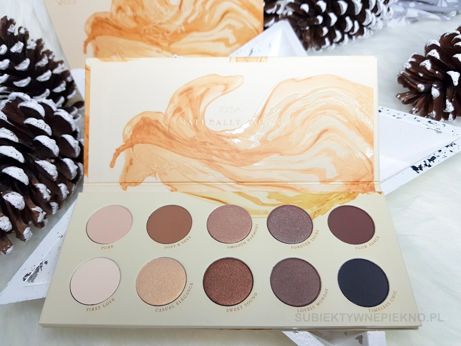 Pomysły na prezenty świąteczne do 100zł - paleta cieni Zoeva Naturally Yours