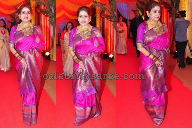 Fuchsia Pink and Purple Saree