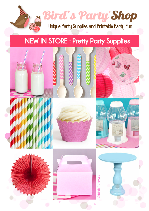Party Printables & Supplies Shop - BirdsParty.com