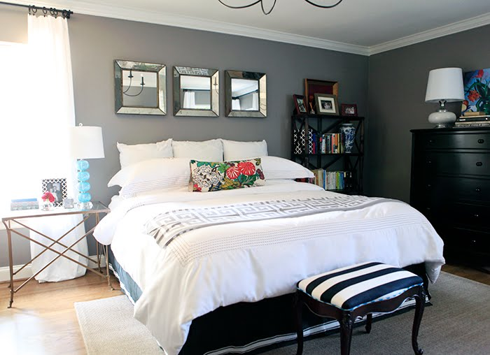design studio B: more gray bedroom love...