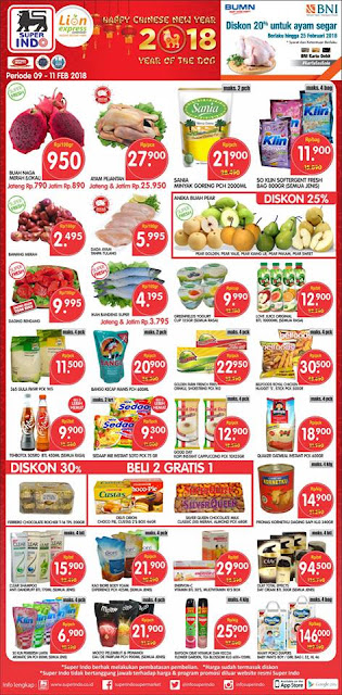 Katalog SUPERINDO Promo JSM SUPERINDO Akhir Pekan Periode 09 - 11 Februari 2018