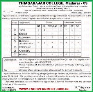 thiagarajar-college-madurai--assistant-professors-recruitment-www-tngovernmentjobs-in