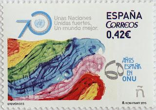 70 ANIVERSARIO DE LA ONU, 60 ANIVERSARIO INGRESO DE ESPAÑA EN LA ONU