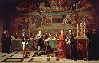 Галилео Галилей перед судом инквизиции в Ватикане, 1633. Художник Жозеф-Николя Робер-Флёри, 1847