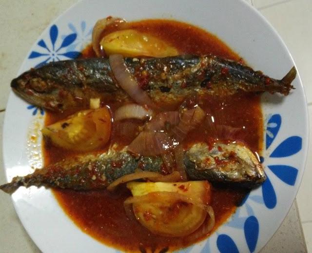 Masak Asam Ikan Kembung Rebus