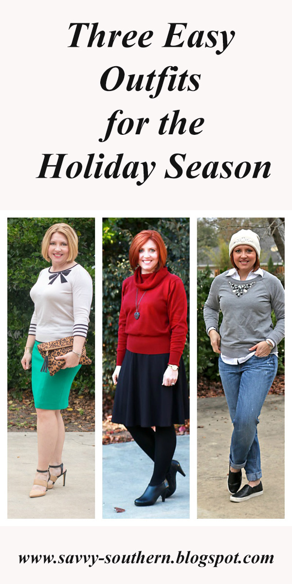 Three Easy Outfits for the Holiday Season and a list of Black Friday Sales