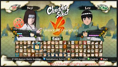 Cara Mudah Unlock Semua Karakter Naruto Shippuden Ultimate Ninja Storm 3