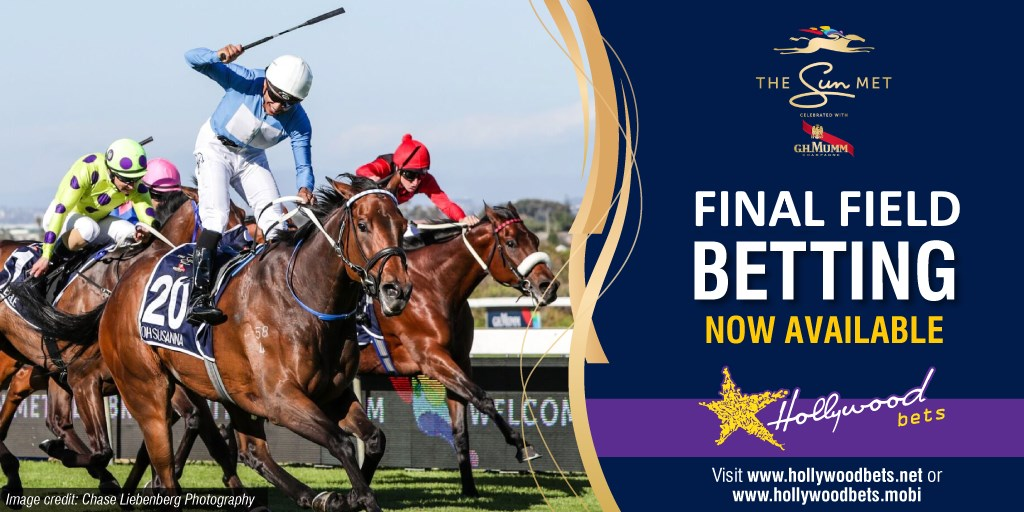 Sun Met - Final Field Betting - Now available at Hollywoodbets
