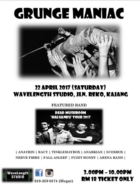 grunge maniac underground gig 22 april