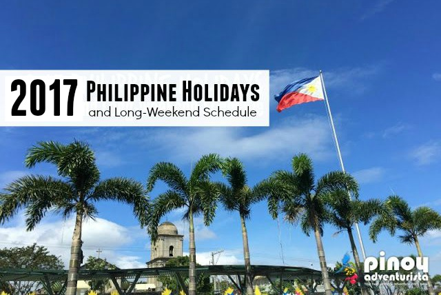 2017 Philippine National Non Working Holidays and Long-weekend Schedule