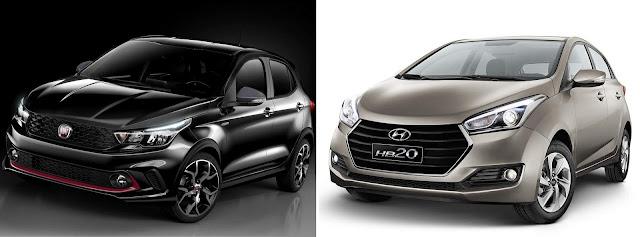 Fiat Argo x Hyundai HB20