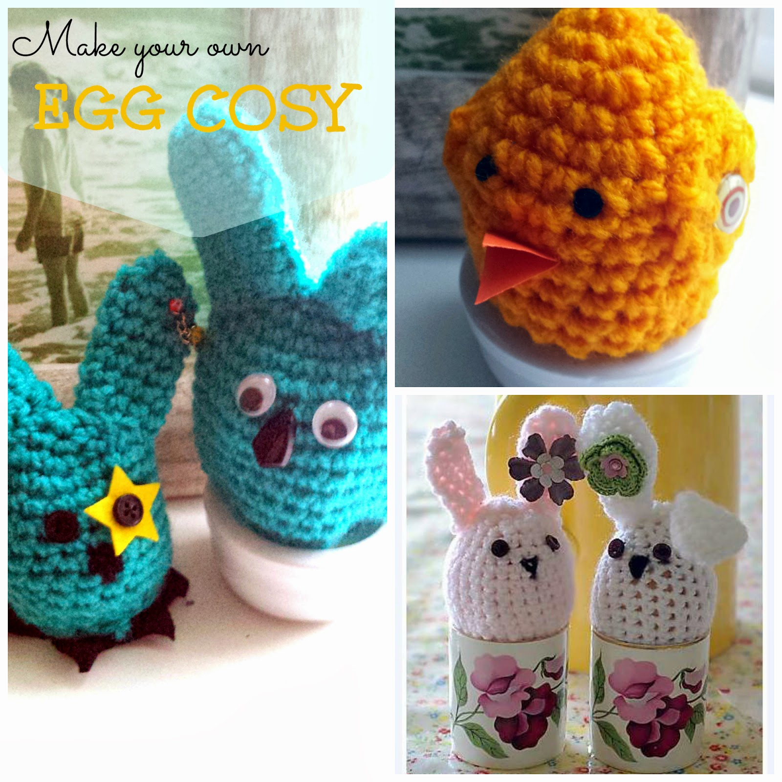 Crochet Bunnies and Chicks Egg cosies