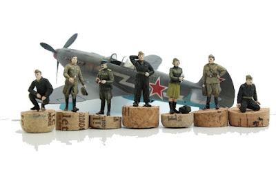 Figurine de la Soviet Air Force WWII ICM au 1/48.