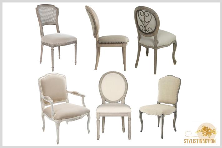 sillas de autor - cual es la indicada para cada casa - sillas vintage Luis XIV - Luis XV - Luis XV