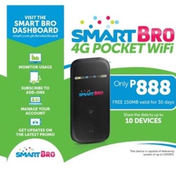 Smart Bro 4G Pocket Wifi Promo Price - Get It for Only 888 Pesos