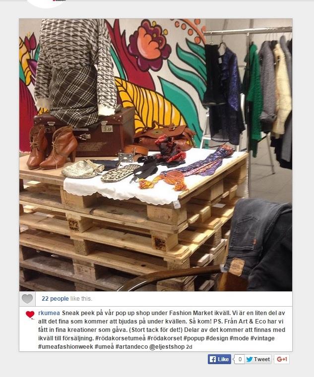 Art Eco Art Eco Stottar Roda Korset Pa Umea Fashion Week