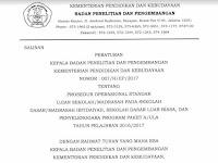 POS Ujian Sekolah SD/MI Tahun 2017 / Tahun Pelajaran 2016/2017