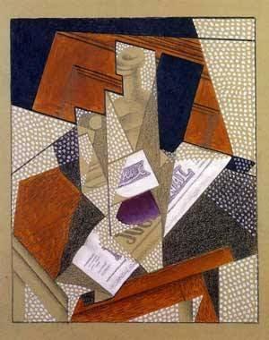 Garrafa - Técnica de colagem e cubismo nas obras de Juan Gris